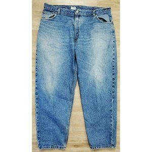 Carhartt Mens Relaxed Fit Taper Blue Jeans Size 42
